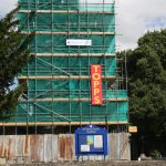 12. Scaffolding on All Saints church - July 2017