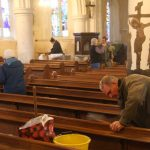 Cleaning the nave