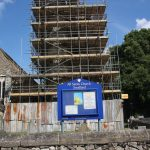3. Scaffolding being erected around All Saints church tower - June 2017