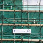 4. Heritage Lottery Fund logo on All Saints scaffolding